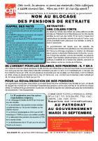 30 septembre, Amiens - Non au blocage des pensions de retraites