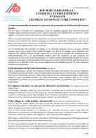 Tract « Réforme territoriale : communes et départements en danger, les Français doivent être consultés » - ADECR Oise, 18 octobre 2014