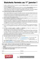 Tract-Pétition « Guichets fermés au 1er janvier ! » - Front de gauche du Valois, 16 décembre 2014