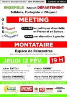 12 février, Montataire - Meeting de l'Oise Solidaire, Écologiste et Citoyenne