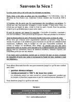 Comité de défense-« Une heure pour la Sécu »-Tract - Creil, 28 avril 2015