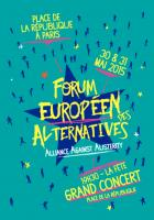 Forum européen des alternatives-Alliance against austerity-Programme - Paris, 30 & 31 mai