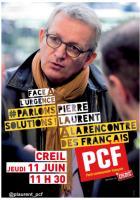 Tract « Parlons solutions avec Pierre Laurent : rencontre sur la santé publique à Creil » - PCF Oise, 11 juin 2015