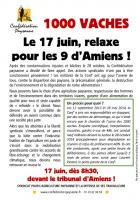 Tract « Relaxe pour les neuf de la Conf' ! » - Amiens, 17 juin