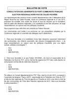 Consultation des adhérents du Parti communiste français dans l'Oise - Élection régionale du Nord-Pas-de-Calais-Picardie, du 29 juin au 4 juillet 2015