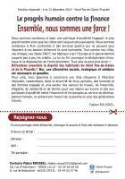 Flyer de campagne du PCF - Élection régionale Nord-Pas-de-Calais-Picardie, 21 juillet 2015