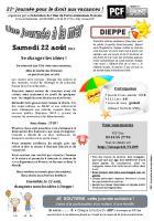Tract « Journée à la mer »- Oise Avenir, 29 juin 2015