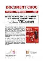 8 octobre, Chambly - Projection-débat « Vérités et mensonges sur la SNCF », en présence de Gilles Balbastre
