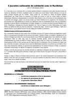 Tract du CNSK « 3 journées nationales de solidarité avec le Kurdistan » - France, 16 au 18 octobre 2015