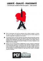 Tract « Liberté-Égalité-Fraternité » - Bresles, Montataire, 18 novembre 2015
