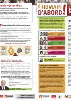4 pages de campagne de la liste Front de gauche l'Humain d'abord-Pages régionales - Élection régionale Nord-Pas-de-Calais-Picardie, 25 novembre 2015
