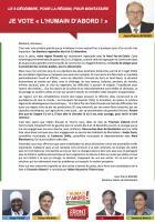 Appel de Jean-Pierre Bosino « Je vote l'Humain d'abord ! » - 1er décembre 2015