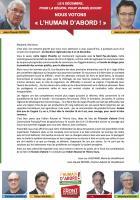 Appel de Jean-Luc Laschamp et Jean-Claude Patron « Nous votons l'Humain d'abord ! » - 1er décembre 2015