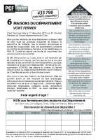 Tract-pétition « Non aux fermetures des maisons du Département » - PCF Oise, 10 janvier 2016