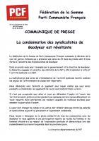 PCF Somme : « La condamnation des syndicalistes de Goodyear est révoltante »