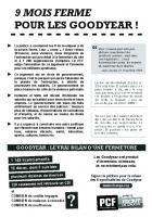 Tract « 9 mois ferme pour les Goodyear ! » - Section PCF du Thelle, 8 février 2016