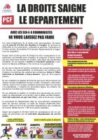 Tract « La droite saigne le département : avec les élu-e-s communistes, ne vous laissez pas faire » - ADECR Oise & PCF Oise, 10 février 2016