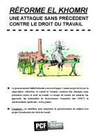 Tract « La réforme El Khomri : une attaque sans précédent contre le droit du travail » - Section PCF de Montataire, 22 février 2016
