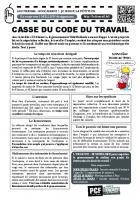 Tract « Casse du code du travail - Justice pour les 8 de Goodyear » - PCF Oise, 27 février 2016