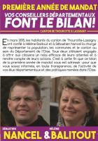 Bilan synthétique de l'action des conseillers départementaux du canton de Thourotte - Juin 2016