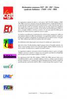 Déclaration commune CGT-FO-FSU-Solidaires-Unef-UNL-Fidl - 8 juillet 2016