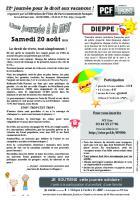 Tract « 22e Journée à la mer »- Oise Avenir n° 1326, 1er juillet 2016