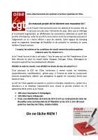 Tract « Un mauvais projet de loi devient une mauvais loi » - CGT Oise, 15 septembre 2016