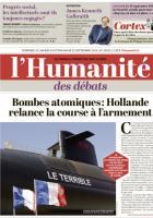 L'Humanité : « Bombes atomiques : Hollande relance la course à l'armement » - 23 septembre 2014