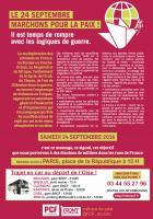 Tract « Le 24 septembre, marchons pour la paix »-version couleur - PCF Oise, 17 septembre 2016