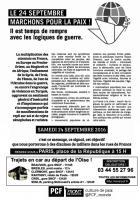 Tract « Le 24 septembre, marchons pour la paix »-version n&b - PCF Oise, 17 septembre 2016