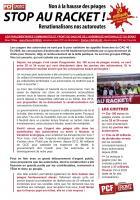 Tract « Non à la hausse des péages ! Stop au racket ! Renationalisons nos autoroutes » - Parlementaires communistes et Front de gauche, 14 octobre 2016