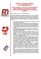 Déclaration CGT-FO-Sud « Toutes et tous en grève le 8 novembre 2016 » - Paris, 4 octobre 2016