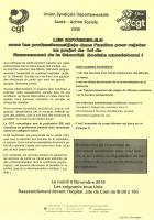 Tract « Les infirmier-e-s avec les professionnel-le-s dans l'action pour rejeter un PLFSS nauséabond » - USD CGT, 8 novembre 2016