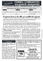 Tract « Collecte à Crépy-en-Valois le 16 novembre » - Collectif Femmes Communistes Solidarité Migrantes, 2 novembre 2016