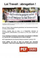 Tract « Loi Travail : abrogation ! » - Amiens, 11 janvier 2017