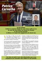 Premier journal de campagne de Patrice Carvalho aux Législatives 2017 - 6e circonscription de l'Oise, 4 février 2017