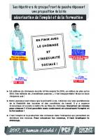 Tract « En finir avec le chômage et l'insécurité sociale » - Oise, février 2017