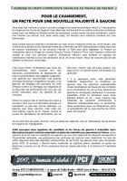 Adresse du Parti communiste au peuple de France « Pour le changement, un pacte pour une nouvelle majorité de gauche » - Compiègne & Valois, 24 février 2017