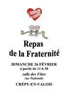 Invitation de la section PCF du Valois au Repas de la Fraternité - Crépy-en-Valois, 26 février 2017