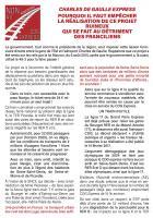 Tract « Charles-de-Gaulle Express : pourquoi il faut empêcher la réalisation de ce projet ruineux qui se fait au détriment des Franciliens » - Section PCF de Nanteuil-Betz, 7 mars 2017