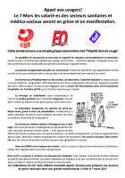 Tract intersyndical CGT-FO-Sud « Appel aux usagers » - France, 7 mars 2017