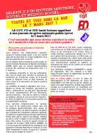 Tract intersyndical CGT-FO-Sud « Toutes et tous dans la rue le 7 mars ! » - France, 7 mars 2017