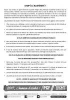 Tract « Stop à l'austérité » - PCF Oise, 7 mars 2017