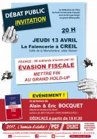 Flyer « Évasion fiscale : mettre fin au grand hold-up » - Creil, 13 avril 2017