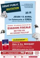 Flyer « Évasion fiscale : mettre fin au grand hold-up » - Creil, 13 avril 2017