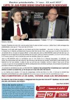 Appel de Jean-Pierre Bosino : « Pas d'abstention le 23 avril, votons Jean-Luc Mélenchon » - Montataire, 18 avril 2017