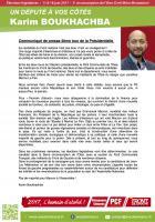 Communiqué de Karim Boukhachba suite au second tour de la Présidentielle - 9 mai 2017