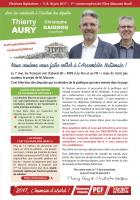 4 pages « Faisons entrer le peuple à l'Assemblée nationale » - 1re circonscription de l'Oise, 17 mai 2017