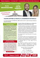 4 pages « Faisons entrer le peuple à l'Assemblée nationale » - 3e circonscription de l'Oise, 17 mai 2017