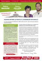 4 pages « Faisons entrer le peuple à l'Assemblée nationale » - 5e circonscription de l'Oise, 17 mai 2017